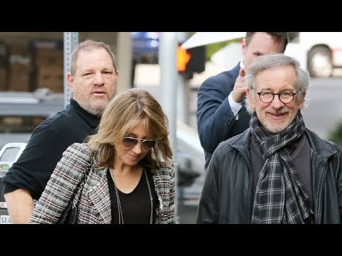 Harvey Weinstein Has A Power Lunch With Steven Spielberg At Tavern [2014]