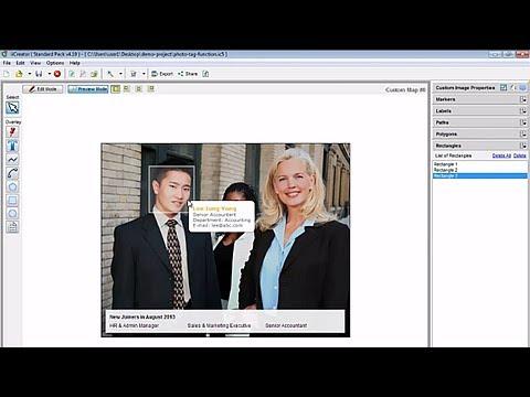 Tag photos with mouseover description box