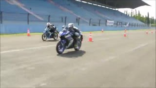 DRAG RACE 201 METER - ALL NEW SATRIA VS YAMAHA R25 Video