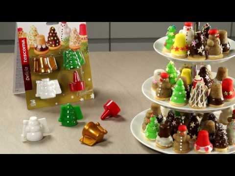Видео Формочки для печенья из пластмассы Tescoma Формочки для печенья с начинкой DELICIA , 3 рождественских формы Tescoma 631646