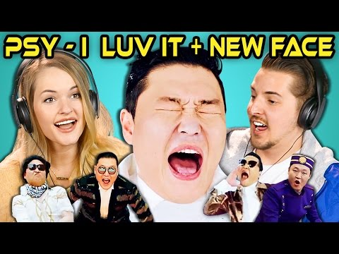 COLLEGE KIDS REACT TO PSY – 'I Luv It' & 'New Face' M/V