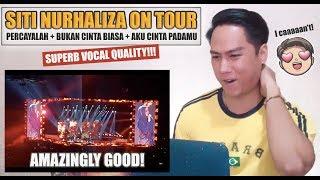 Video [REACTION] Siti Nurhaliza On Tour - PERCAYALAH + BUKAN CINTA BIASA + AKU CINTA PADAMU MP3, 3GP, MP4, WEBM, AVI, FLV Maret 2019