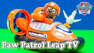 Paw Patrol's Zuma Hovercraft Plays the Leap Tv Game