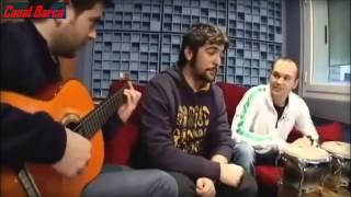 Iniesta y Estopa cantando juntos