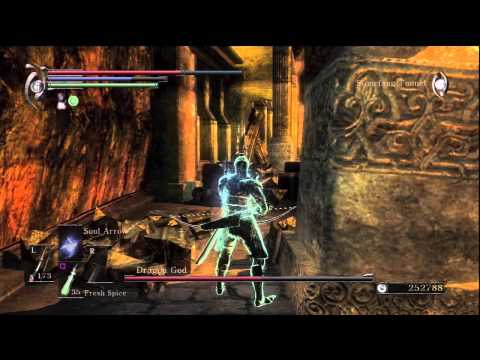 Demon's Souls: Dragon God boss battle (World 2-3) the easy way!