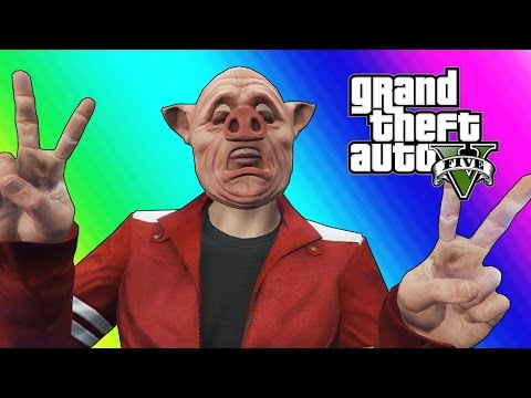 GTA 5 Online Funny Moments - Body Glitch & Bald Piggy!_Legjobb vide�k: J�t�k