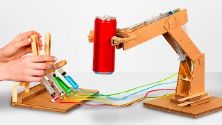 Video How to Make Hydraulic Powered Robotic Arm from Cardboard MP3, 3GP, MP4, WEBM, AVI, FLV Januari 2019