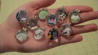 Glass Gem Necklace Pendant Tutorial - YouTube