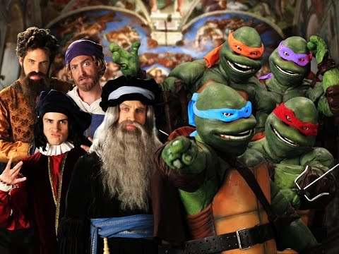 Artists vs TMNT. Epic Rap Battles of History Season 3 Finale. (видео)