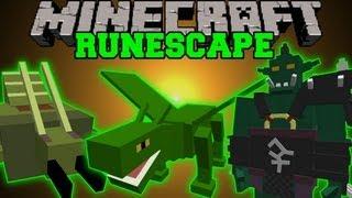 Minecraft : RUNESCAPE MOD (EPIC BOSSES, EPIC GEAR, RPG) Scapecraft Mod Showcase