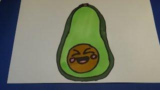 Kawaii Avocado zeichnen