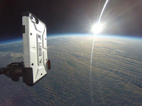 iPhone 6'yı uzaydan yere attılar,