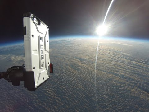 iPhone 6 in Space HD balloon flight to 101 000