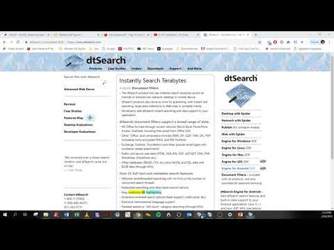 Finding Documents using DT Search