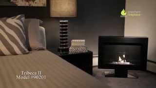 The simple, elegant design and the beautiful satin black finish of the Tribeca II model Anywhere Fireplace™ on a stand will create a dramatic statement and add ...
