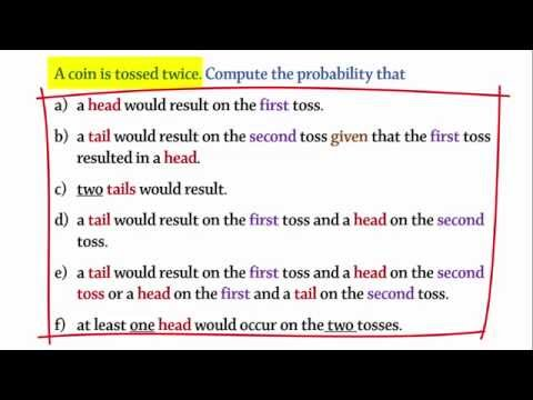 Probability: Tossing 2 Coins (Head/Tail)