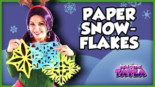 How to make Paper Snowflakes, Arts and Crafts for Children