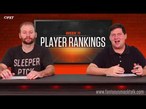 Fantasy Football: Week 11 Player Rankings thumbnail