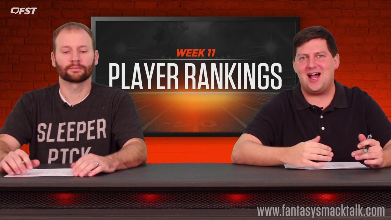 Fantasy Football: Week 11 Player Rankings thumbnail