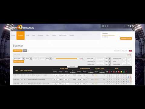 PreMatchTrading & Inplay Scanner Tools