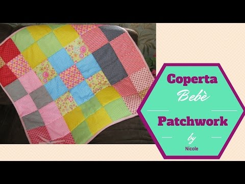 Come cucire una copertina per bebè -trapunta bebè-How to sew a baby blanket