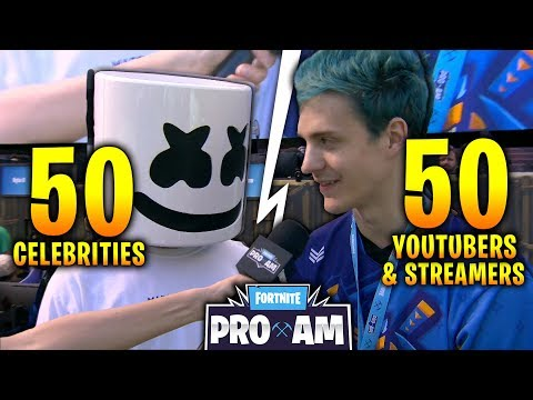 50 Youtubers/Streamers + 50 Celebrities on FORTNITE!!! $3,000,000 Charity Event!! E3 Best moments