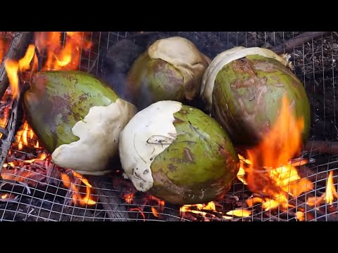 Coconut Chicken - Cooking Chicken In green Coconut In My Village - Healthy Chilli Chicken Recipes