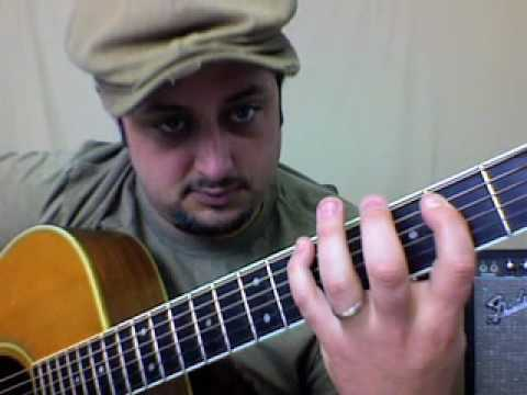"Acoustic Blues Guitar Lesson – In the Style of ""Bad to the Bone"""