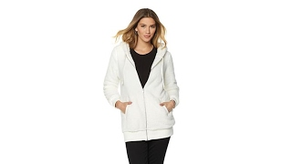 OFF AIR by Giuliana Cozy Sherpa Zip Hoodie with Pockets