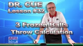 APA Dr. Cue Instruction - Dr. Cue Pool Lesson 32: Frozen Ball Principle With 3 Balls!