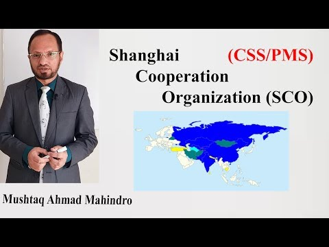 Shanghai Cooperation Organisation (SCO) Lecture for CSS/PMS Students