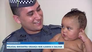 Policial de Pederneiras conhece família de bebê que ajudou a salvar por telefone
