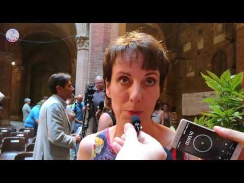 Presentazione Drappellone Palio 2 luglio 2017-Intervista Laura Brocchi
