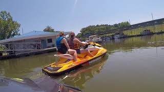 10. 8/11/18 Seadoo GTI 130 & 155 riding from Clifton Marina on KY lake on TN river