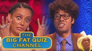 Richard Ayoade is Tanked Up and Mel B is Confused | Big Fat Quiz of the Year 2014