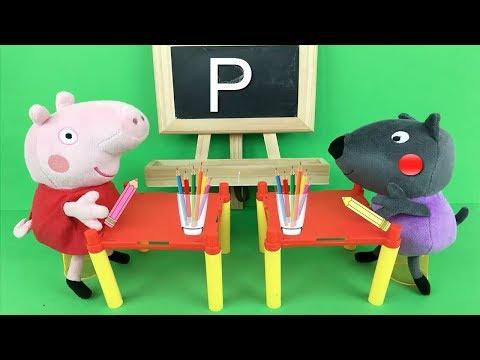 Peppa Pig en español - Peppa pig en español: la primera del colegio. Nuevo capitulo con juguetes