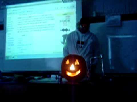 Trey Moses blows up a pumpkin!!!