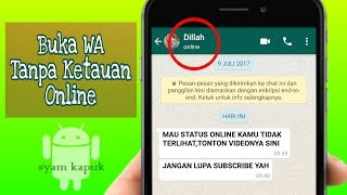 Video 2 Cara Menyembunyikan Tanda Online Di Whatsapp MP3, 3GP, MP4, WEBM, AVI, FLV Januari 2019