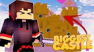 BUILDING WORLD'S BIGGEST CASTLE IN BEDWARS (Minecraft BEDWARS)