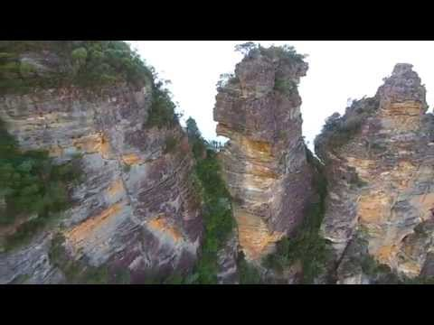 Nepean River and The Three Sisters by Drone