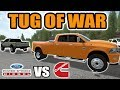 Farming Simulator 2017  Dodge Vs Ford Tug Of War  6 Different Trucks  Multiplayer