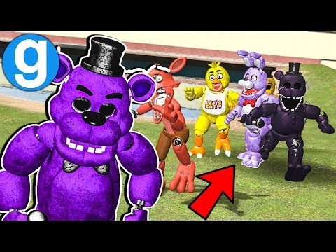 Garrys Mod - New Fazbear Ultimate Pill Pack Remastered Chasing NPCs! Garry's Mod Gameplay Five Nights at Freddy's