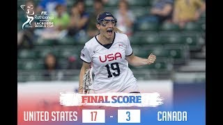 4-0! Team USA earns the #1 seed at the 2017 Rathbones Women's Lacrosse World Cup by finishing group play with a commanding 17-3 win over Canada! Here's a sne...