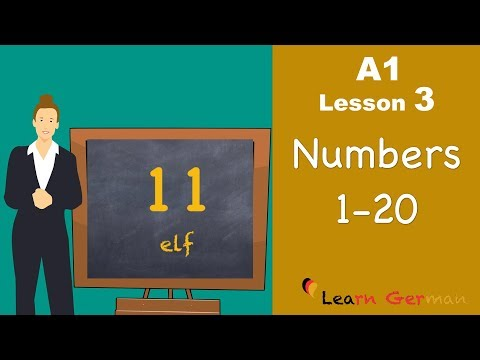 Learn German - Numbers (Part 1) - Learn German for beginners | A1 - Lesson 3 (видео)
