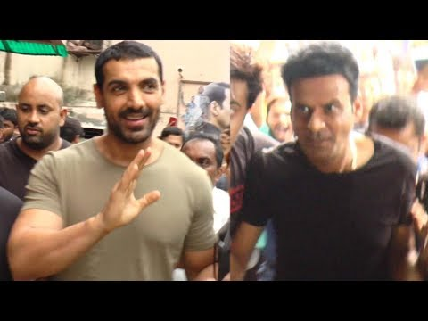 John Abraham And Manoj Bajpayee At Gaiety Galaxy F