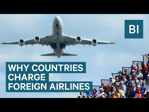 Why airlines pay to fly over other countries (видео)