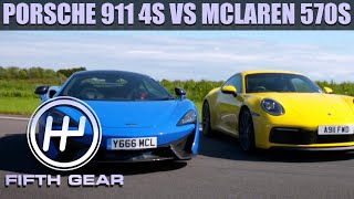 Porsche 911 4S VS McLaren 570S - The FULL Challenge | Fifth Gear by Fifth Gear