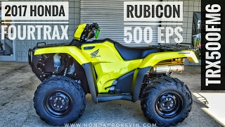 9. 2017 Honda Rubicon EPS 500 4x4 ATV (TRX500FM6H) Walk-Around Video | Yellow | HondaProKevin.com