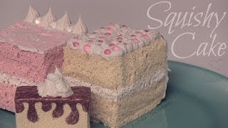 Squishy Cake Slice - How To - Homemade Squishies! - YouTube