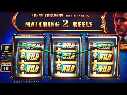 The Godfather Slot Machine Bonus Don Corleone BIG WIN MAX BET